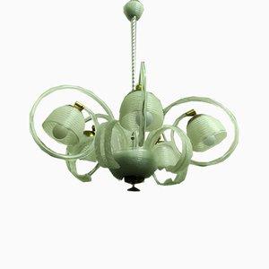 Lampada da soffitto a 5 luci in vetro di Barovier & Toso, anni '40
