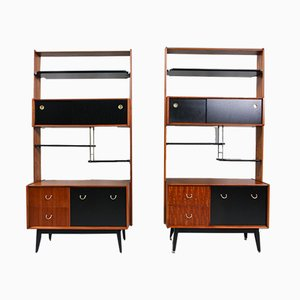 Vintage English Shelves from G-Plan, 1950s, Set of 2