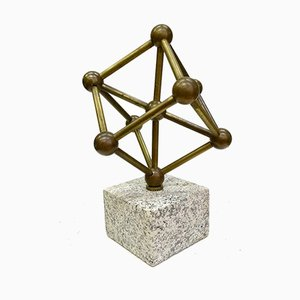 Brass & Granite Atomium Sculpture, 1970s