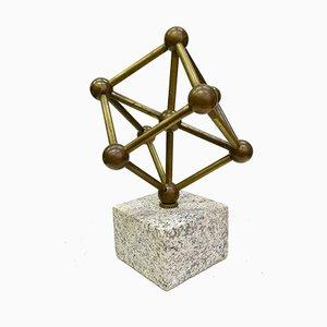 Messing & Granit Atomium Skulptur, 1970er