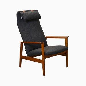 Scandinavian Reclining Armchair, 1960s