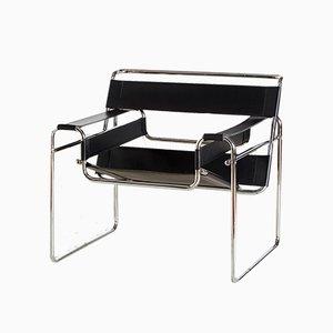 Röhrenförmiger Vintage Sessel im Bauhaus Stil, 1950er