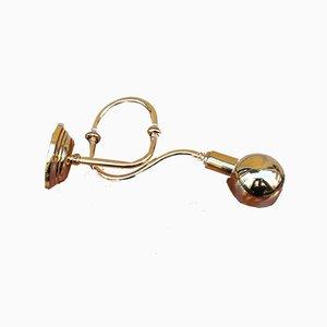 Modell LP15 Trompeten Wandlampe aus poliertem Messing von Luigi Caccia Dominioni für Azucena, 1990er