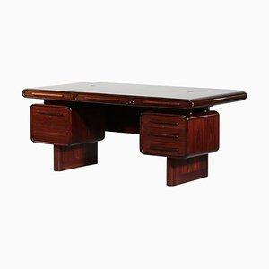 Large Danish Rosewood Desk from Kibaek Mobelfabrik, 1960s