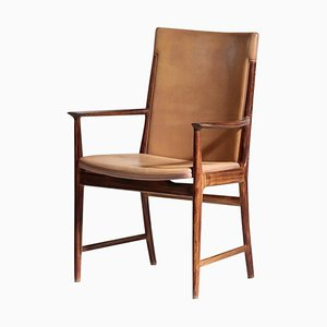 Danish Rosewood & Leather Armchair by Kai Lyngfeldt Larsen for Soren Willadsen, 1960s