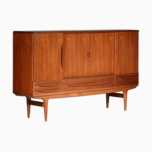 Danish Teak High Sideboard by Johannes Andersen, 1960s