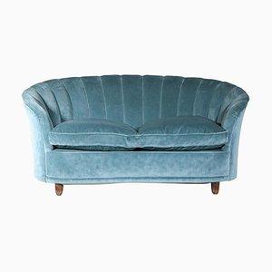 Italian Velvet 2-Seat Sofa by Gio Ponti, 1960s