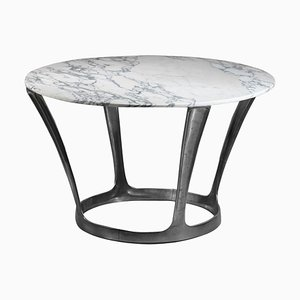 Carrara Marble Dining Table by Michel Charron, 1970s