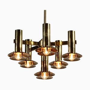 Swedish Chandelier by Holger Johansson for Westal, 1970s