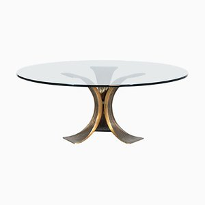 Grande Table Basse en Bronze dans le Style de Willy Ceysens, 1960s