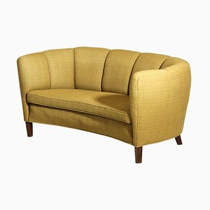 Danish Yellow Banana Sofa, 1960s