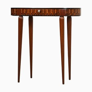 Antique Rosewood & Mahogany Marquetry Gueridon