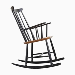Scandinavian Model Fanett Rocking Chair by Ilmari Tapiovaara, 1960s