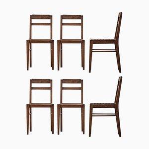 Esszimmerstühle im René Gabriel Stil, 1960er, 6er Set