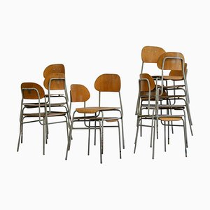 Czech Dining Chairs, 1960s, Set of 10