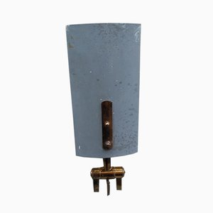 Messing & Aluminium Modell 2133 Wandlampe von Stilnovo, 1950er