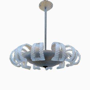 12-Leuchten Deckenlampe aus Muranoglas von Barovier & Toso, 1950er