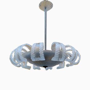 Murano Glass 12-Light Ceiling Lamp from Barovier & Toso, 1950s