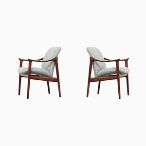 Lounge Chairs by Fredrik A. Kayser for Vatne Lenestolfabrikk, 1950s, Set of 2