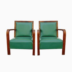 Lounge Chairs, 1940s, Set of 2