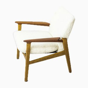 Mid-Century Danish Sheep Skin 9015 Lounge Chair by Hans Olsen for Verner Birksholm