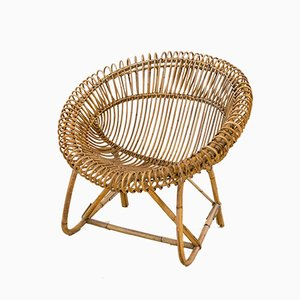 Rattan Armchairs, 1960s, Set of 2