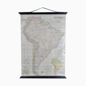 Mapa de América del Sur de National Geographic, años 50