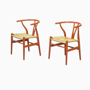 CH24 Armchairs by Hans J. Wegner for Carl Hansen & Søn, 1960s, Set of 2