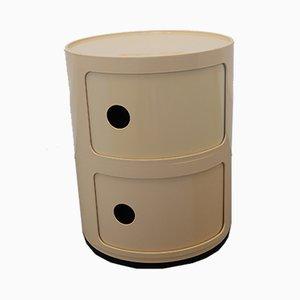 Italian White Plastic Modular Cabinet by Anna Castelli Ferrieri for Kartell