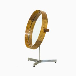 Mid-Century Swedish Rosewood Model 417 Table Mirror by Uno & Östen Kristiansson for Luxus