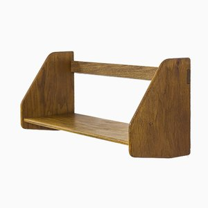 Mid-Century Danish Oak Wall Shelf by Hans J. Wegner for Ry Møbler