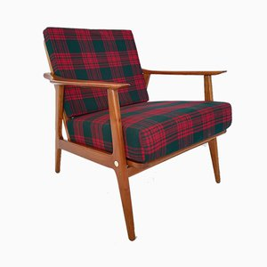Mid-Century Checked Armchair