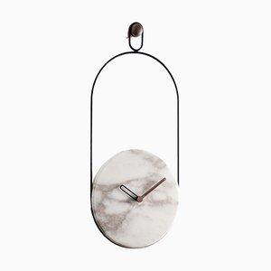 Horloge Murale Black & Calacatta Eslabon par Andr