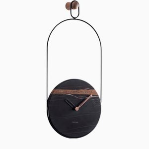 Black & Sahara Noir Eslabon Wall Clock by Andrés Martínez for Nomon