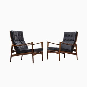 Swedish Örenäs Lounge Chairs by Ib Kofod Larsen for OPE, 1950s, Set of 2