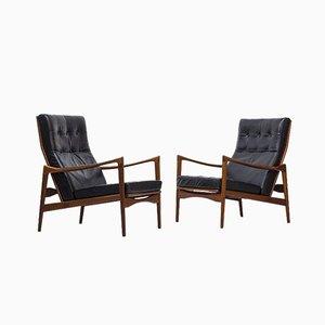 Swedish Örenäs Lounge Chairs by Ib Kofod Larsen for OPE, 1950s, Set of 2