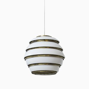 Mid-Century Finnish Beechive Ceiling Lamp by Alvar Aalto for Valaisinpaja OY