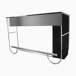 Very Large Art Deco Bauhaus Tubular Chrome Bar in the Style of Marcel Breuer, 1930s
