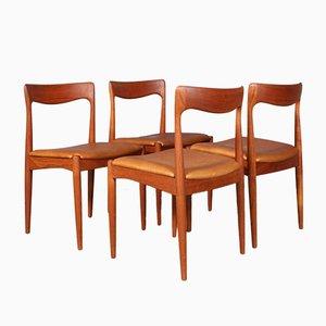 Chaises de Salon en Teck par Arne Vodder, 1970s, Set de 4