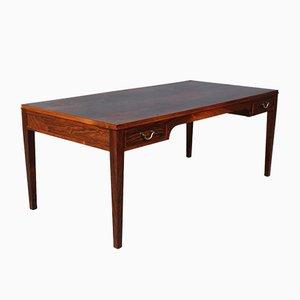 Table Basse en Palissandre et Laiton par Frits Henningsen, 1930s