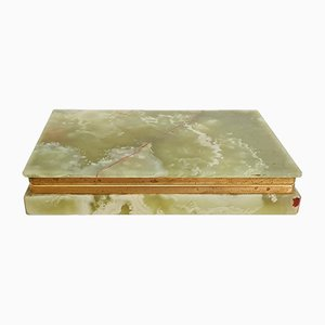 Italian Green Onyx Marble Box, 1960s