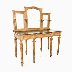 Antique French Black Marble Dressing Table