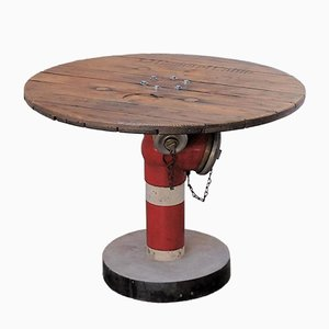 Vintage Round Waterpump Table
