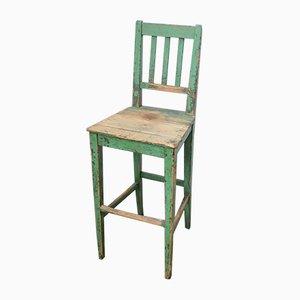 Vintage Fabrik Stuhl aus Holz