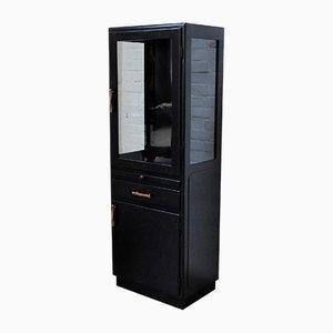 Vintage Black Medical Cabinet