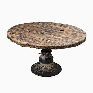 Table Vintage Industrielle Ronde