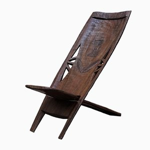 Hand Carved African Chair