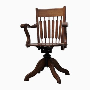 Antique English Captain's Chair