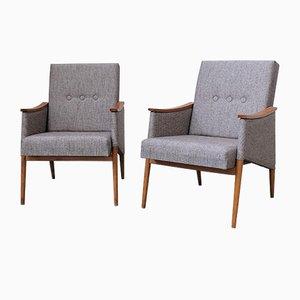 Chaises Upholstered Mid-Century, République Tchèque, Set de 2