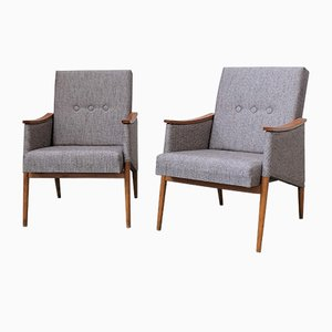 Mid-Century Czech Upholstered Chairs, Set of 2